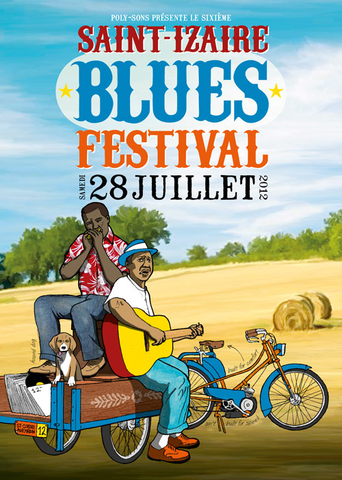 flyer Saint-Izaire Blues Festival 2012