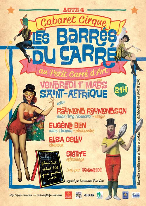affiche Barrés du Carré 03 2013