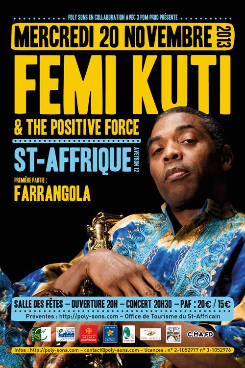 Flyer - Femi Kuti - 20 novembre St-Affrique