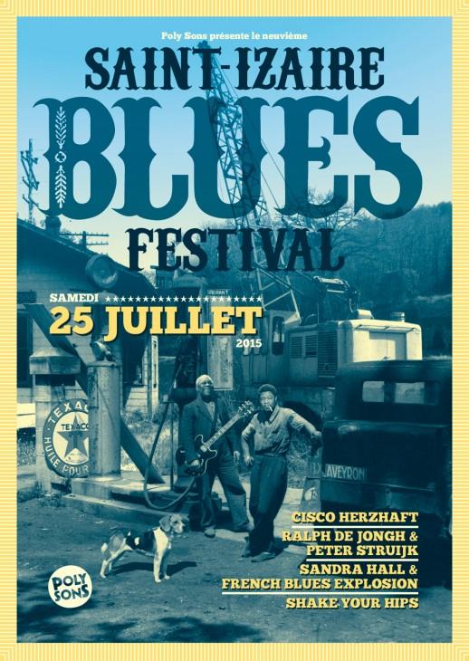 Affiche du Saint-Izaire Blues Festival 2015