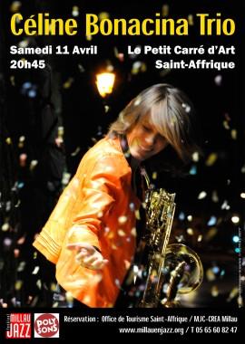 Céline Bonacina Trio – 11 avril Saint-Affrique – Millau en Jazz et Poly Sons