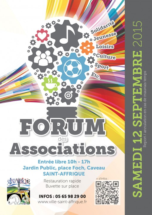 Affiche Forum des associations Saint-Affrique 12 09 2015