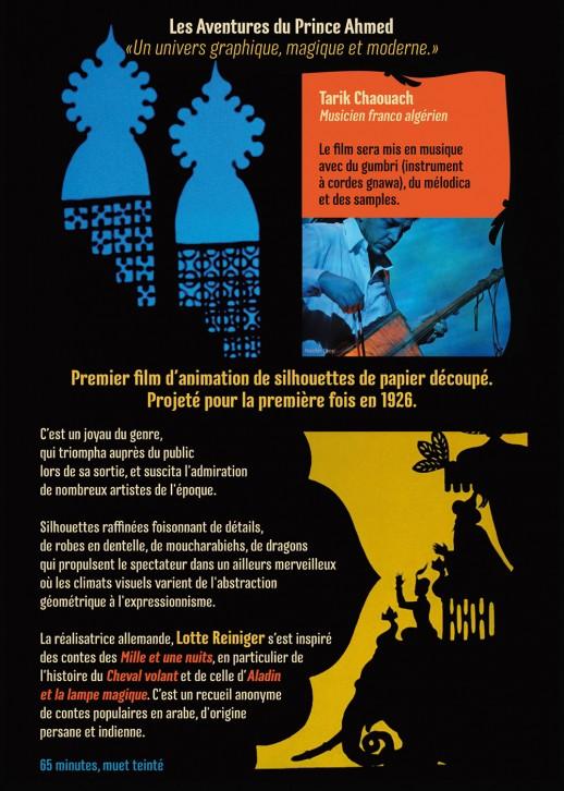 présentation Ciné Concert : Les Aventures du Prince Amhed sur la musique de Tarik Chaouach à Saint-Affrique