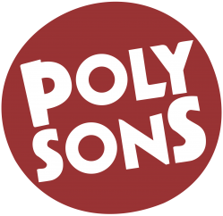 logo poly sons rouge