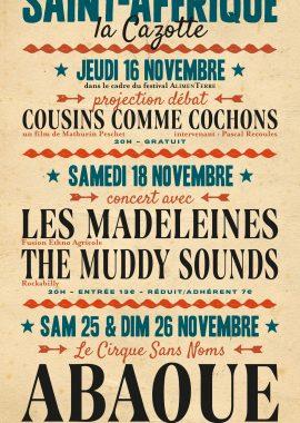 Poly Sons novembre sous chapiteau 2017 - affiche