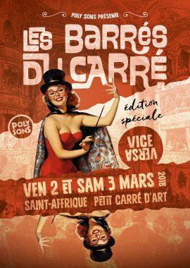 Barrés du Carré - Acte 13 - spécial Vice Versa 2018 - affiche